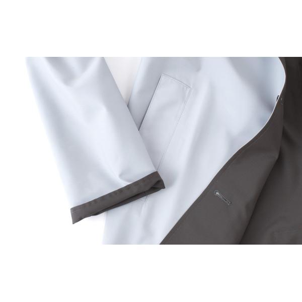 KIRED 【キーレッド】 リバーシブル スプリングコート - ロロ・ピアーナ レインシステム - ・mod. BEN GL ・col. クラウドグレー×グレイッシュブラウン|mandm-website|06