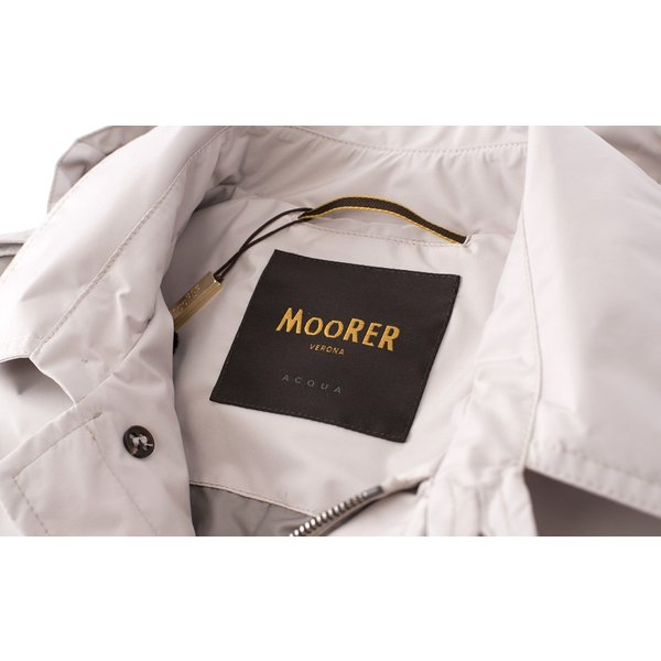 MOORER 【ムーレー】 スプリング トレンチコート・art. PREZ-STP2・col. PEARL (パールベージュ)|mandm-website|06