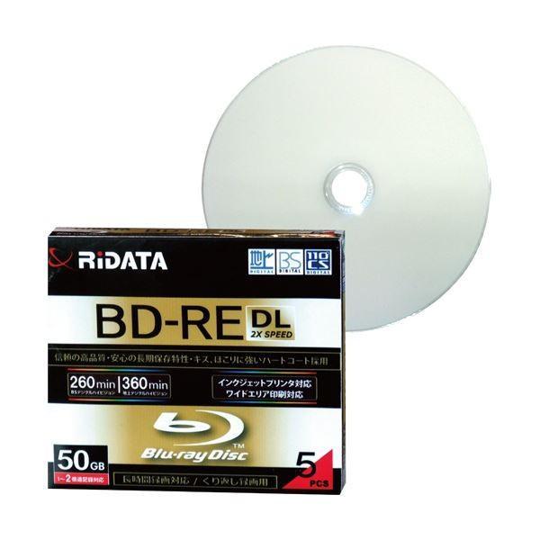 (まとめ)RiDATA 録画用BD-RE DL260分 1-2倍速 ホワイトワイドプリンタブル 5mmスリムケース BD-RE260PW 2X.5P SC A1パック(5枚) 〔×2セット〕