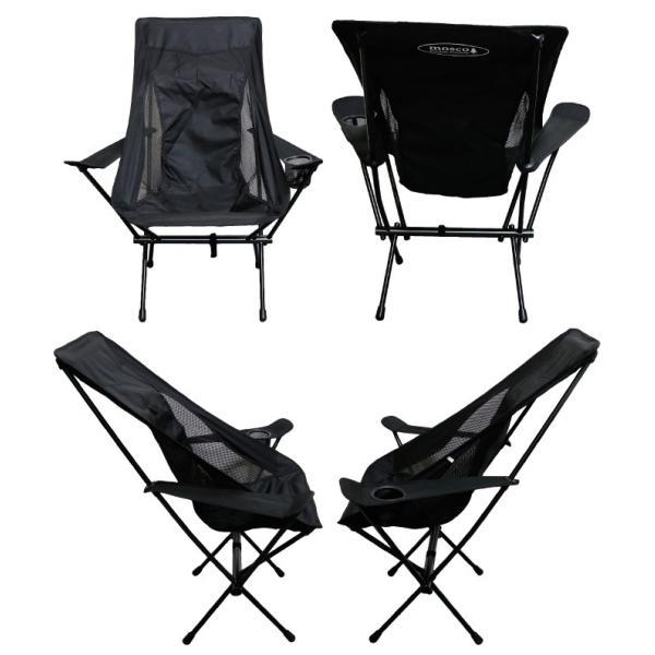 アウトドア チェア MOSCO モスコ 肘掛け付きハイチェア 折りたたみ 軽量 椅子 maniac 09
