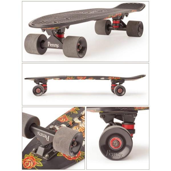 "Penny Skateboard ペニー スケートボード GRAPHICS Complete 27"" TIGER BLOOM ミニクルーザー maniac 02"