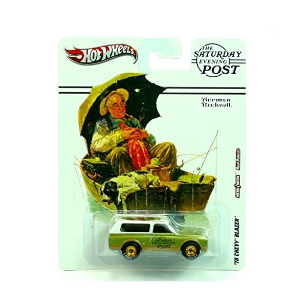 ホットウィールHot Wheels 2012, The Saturday Evening Post, Norman Rockwell, '70 Chevy Blazer. 1:64 Scale Die cast.