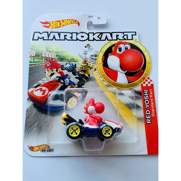 ホットウィール マテル ミニカー GBG25 Hot Wheels Mariokart Standard Kart 1:64 Scale RedYoshi|maniacs-shop
