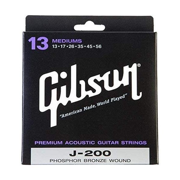 Gibsonギブソンアコースティックギター弦J-200DeluxePhosphorBronzeAcousticGuitarStr