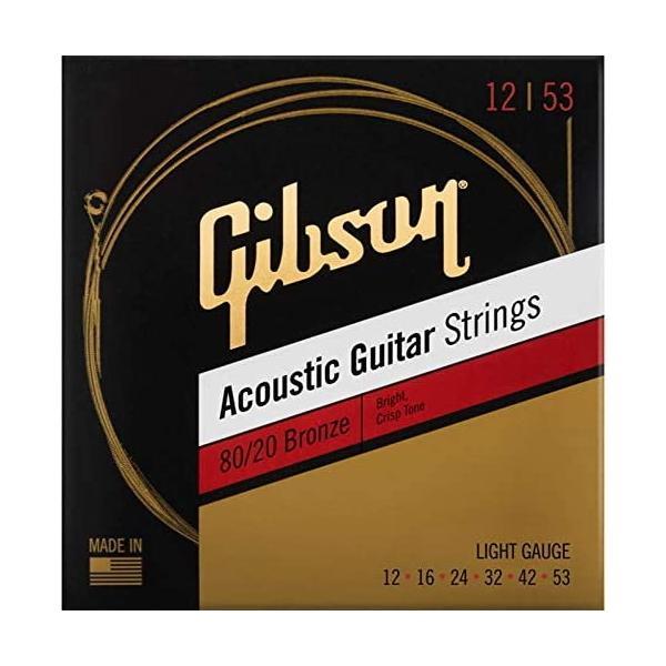 Gibsonギブソンアコースティックギター弦80/20 SAG-BRW12Light
