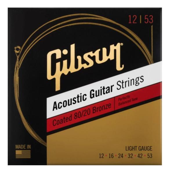 GIBSONSAG-CBRW12Coatedアコースティックギター弦-.012-.053ライトギブソン