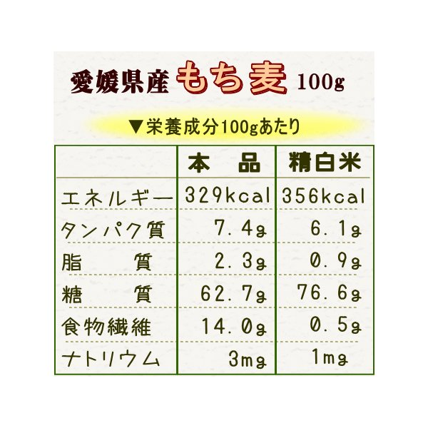 ◆同梱専用◆送料別 『愛媛県産もち麦100g』|manmayarice|03