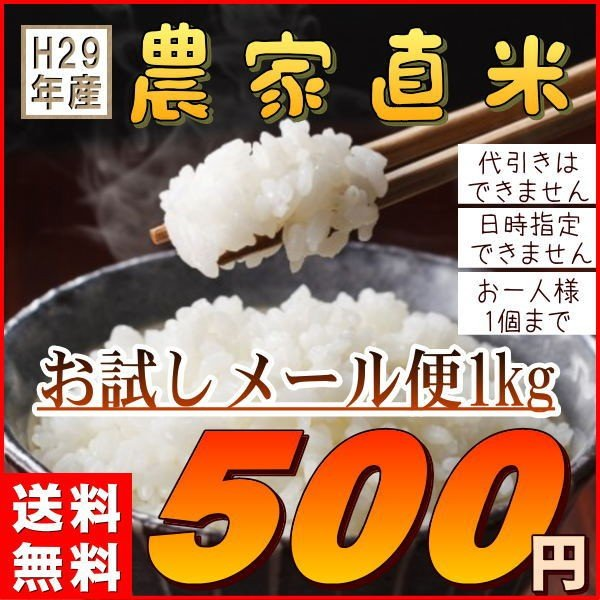 米 送料無料1kg 国内産ブレンド米 訳あり  (お試し1キロ) 安い『29年農家直米白米1kg』|manmayarice