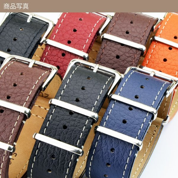 腕時計ベルト バンド 交換 牛革 22mm 20mm 18mm CASSIS TYPE NATO LEATHER 189601S|mano-a-mano|10