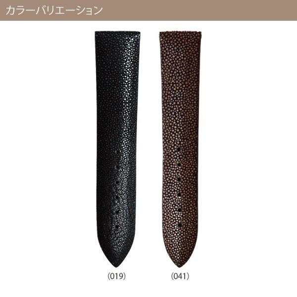 腕時計ベルト バンド 交換 ガルーシャ(エイ革) 22mm 20mm 18mm CASSIS GALUCHAT D397AP4P|mano-a-mano|02