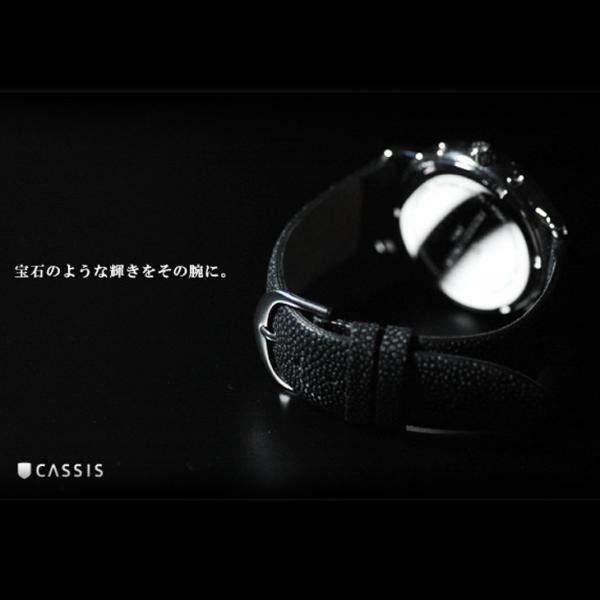 腕時計ベルト バンド 交換 ガルーシャ(エイ革) 22mm 20mm 18mm CASSIS GALUCHAT D397AP4P|mano-a-mano|05