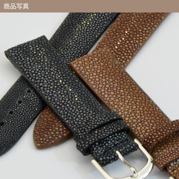 腕時計ベルト バンド 交換 ガルーシャ(エイ革) 22mm 20mm 18mm CASSIS GALUCHAT D397AP4P|mano-a-mano|06