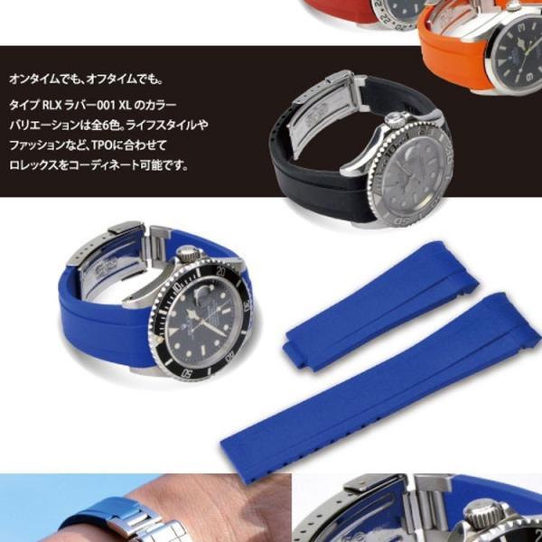 腕時計ベルト バンド 交換 ラバー ロレックス用 CASSIS TYPE ROLEX RUBBER 1 XL K6000001|mano-a-mano|05