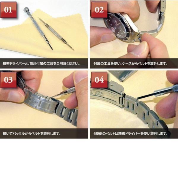 腕時計ベルト バンド 交換 ラバー ロレックス用 CASSIS TYPE ROLEX RUBBER 1 XL K6000001|mano-a-mano|06