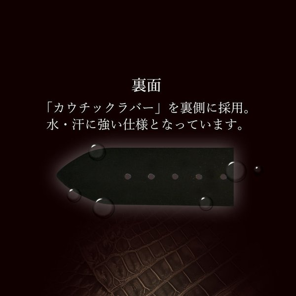 時計 ベルト 時計ベルト アリゲーター ワニ 裏面防水 CASSIS ADONARA CAOUTCHOUC SHINY アドナラカウチックシャイニー u0036b68 18mm 19mm 20mm 21mm 22mm mano-a-mano 10