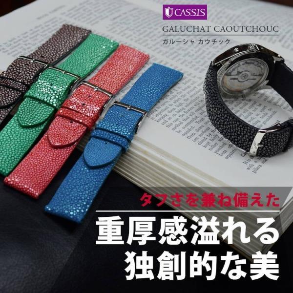 腕時計ベルト バンド 交換 ガルーシャ 22mm 20mm CASSIS GALUCHAT CAOUTCHOUC U0066G48|mano-a-mano|04