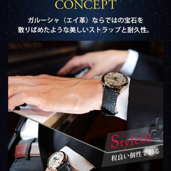 腕時計ベルト バンド 交換 ガルーシャ 22mm 20mm CASSIS GALUCHAT CAOUTCHOUC U0066G48|mano-a-mano|05