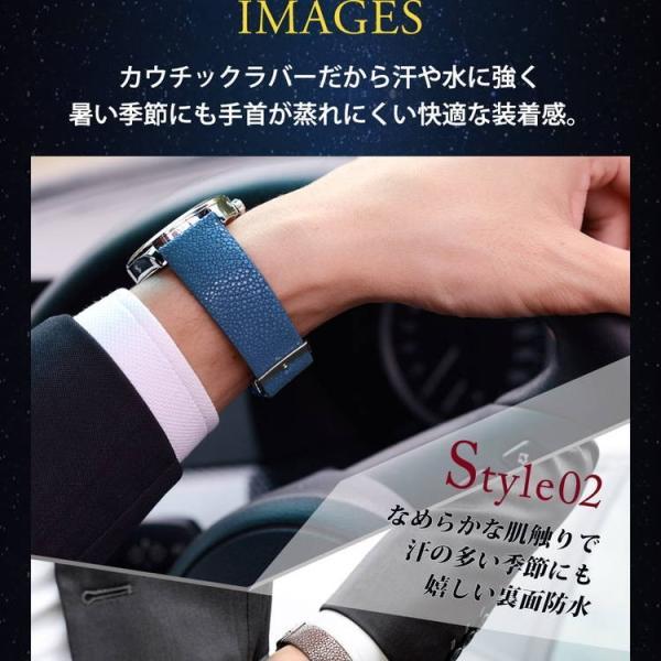 腕時計ベルト バンド 交換 ガルーシャ 22mm 20mm CASSIS GALUCHAT CAOUTCHOUC U0066G48|mano-a-mano|07