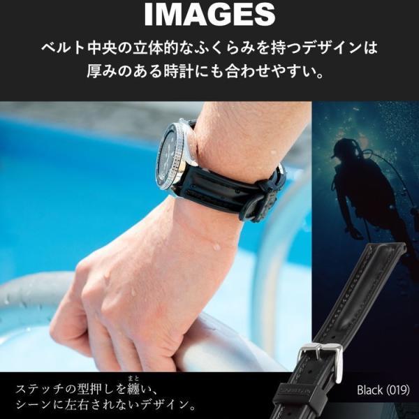 腕時計ベルト バンド 交換 ラバー メンズ 22mm 20mm 18mm MORELLATO CAYMAN U0462198 mano-a-mano 07