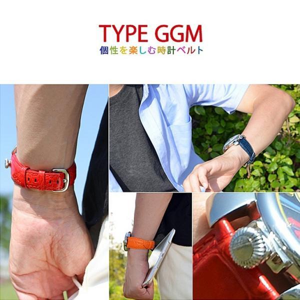 ガガミラノ(GAGA MILANO) 用 ベルト バンド カーフ 牛革 本革 カシス TYPE GGM タイプジージーエム u1003329 20mm 24mm 時計 バンド 時計バンド 替えベル|mano-a-mano|05