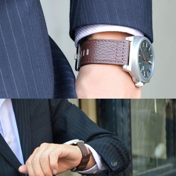腕時計ベルト バンド 交換 牛革 メンズ 大型 DIESEL 用 24mm CASSIS ROTA U1006226|mano-a-mano|06