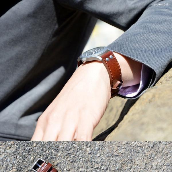 時計 ベルト 腕時計ベルト バンド カーフ 牛革 生活防水 CASSIS カシス KOMOD コモド u1009309 18mm 20mm 22mm|mano-a-mano|07