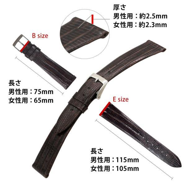 腕時計ベルト バンド 交換 テジュ リザード 20mm 19mm 18mm 17mm CASSIS HAVRE U1089041|mano-a-mano|03