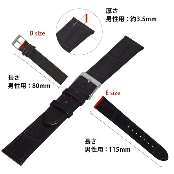時計 ベルト 腕時計ベルト バンド カーフ(牛革)型押し CASSIS カシス PAULI パウリ 替えバンド 交換 革ベルト U1099656 18mm 19mm 20mm|mano-a-mano|03