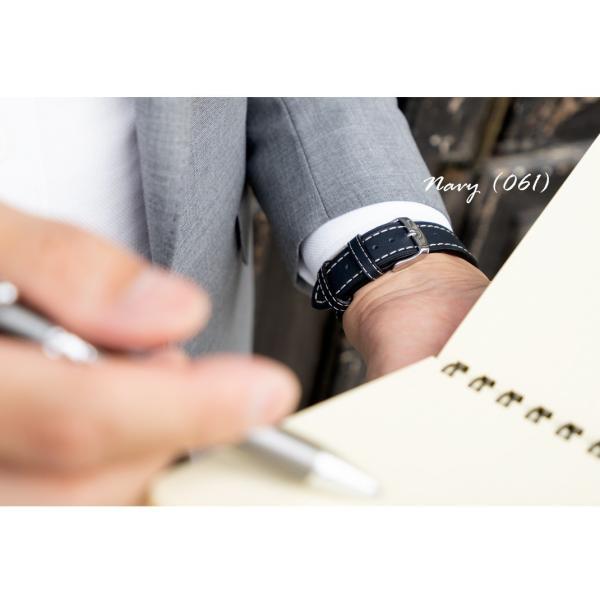 腕時計ベルト バンド 交換 牛革 カーフ 24mm 22mm 20mm 18mm CASSIS NURNBERG U1105087|mano-a-mano|07
