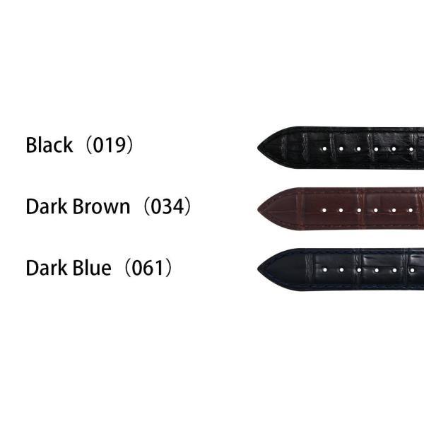 腕時計ベルト バンド 交換 ワニ革 アリゲーター メンズ 20mm 19mm CASSIS ADONARA D U1122A70|mano-a-mano|02