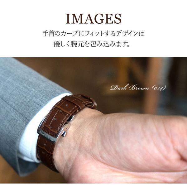 腕時計ベルト バンド 交換 牛革 メンズ Dバックル 20mm CASSIS MULHOUSE D U1124201 mano-a-mano 06