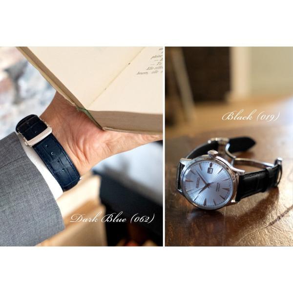 腕時計ベルト バンド 交換 牛革 メンズ Dバックル 20mm CASSIS MULHOUSE D U1124201 mano-a-mano 07