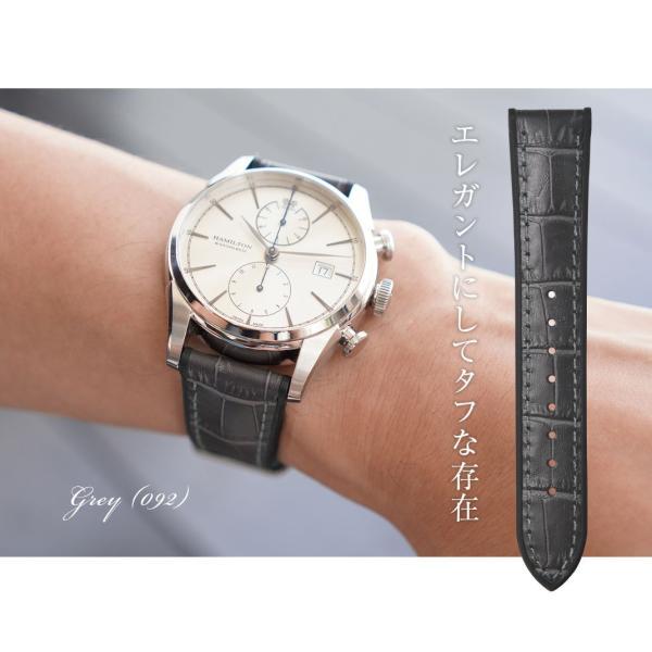 腕時計ベルト バンド 交換 牛革 メンズ 22mm 20mm CASSIS ROCHELAIS GRAIN U1128SA1|mano-a-mano|07