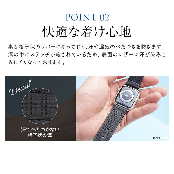 腕時計ベルト バンド 交換 牛革 メンズ 22mm 20mm CASSIS ROCHELAIS GRAIN U1128SA1|mano-a-mano|09