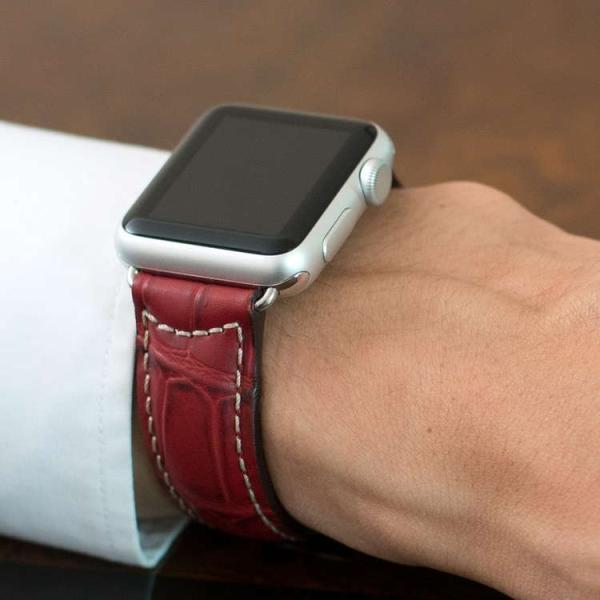 アップル社認定パーツ付バンド アップルウォッチ 38mm 40mm 42mm 44mm 専用バンド イタリア モレラート 社製腕時計ベルト GUTTUSO(グットゥーゾ)  時計ベルト|mano-a-mano|06