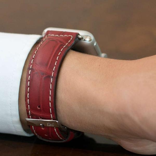 アップル社認定パーツ付バンド アップルウォッチ 38mm 40mm 42mm 44mm 専用バンド イタリア モレラート 社製腕時計ベルト GUTTUSO(グットゥーゾ)  時計ベルト|mano-a-mano|07