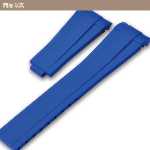 腕時計ベルト バンド 交換 ラバー ロレックス用 20mm CASSIS TYPE ROLEX RUBBER 1 U6000001|mano-a-mano|06