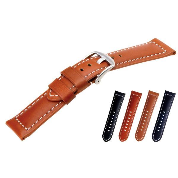 時計 ベルト 腕時計ベルト バンド  パネライ用 カーフ 牛革 CASSIS カシス TYPE PNR44 UBPAN003 タイプピーエヌアール44 UBPAN003 24mm|mano-a-mano