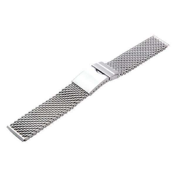 時計 ベルト 腕時計ベルト バンド  ステンレススチール CASSIS カシス Mesh Mirror Thick メッシュミラーシック v04070h4 20mm mano-a-mano
