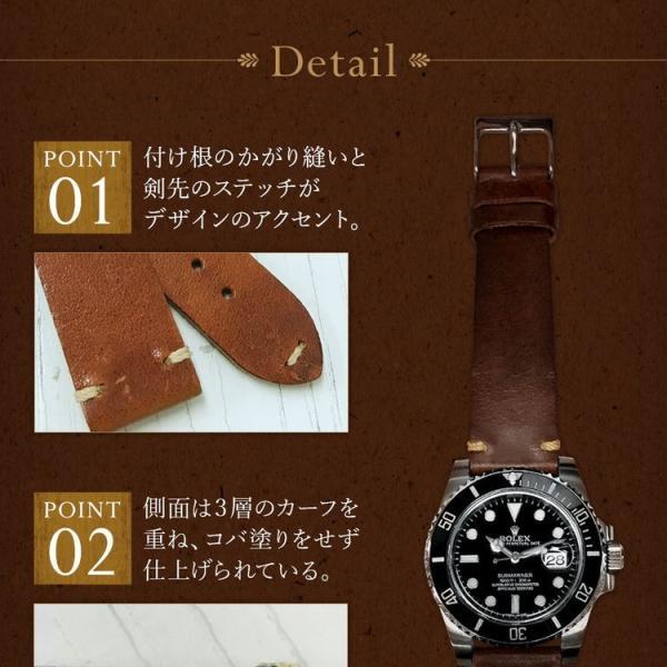 時計 ベルト 腕時計ベルト バンド  カーフ 牛革 CASSIS カシス LILLE リール x0030333 16mm 18mm 20mm