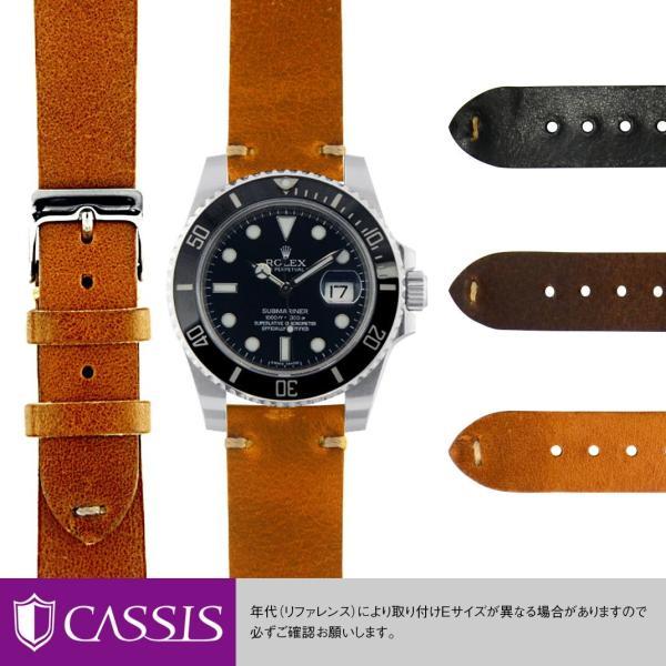 ロレックスサブマリーナ用ROLEXSubmarinerにぴったりの時計ベルト牛革LILLEX0030333