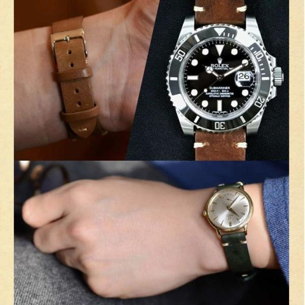 時計 ベルト交換 腕時計 バンド 交換ベルト メンズ カーフ 牛革 本革 裏面防水 カシス GRENOBLE x0031331 18mm 20mm 22mm 交換用工具 交換用工具つき|mano-a-mano|06
