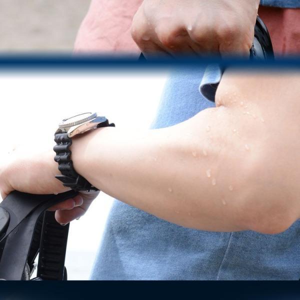 腕時計ベルト バンド 交換 ラバー メンズ 完全防水 20mm CASSIS TYPE DIVER 20 X0032L46|mano-a-mano|06