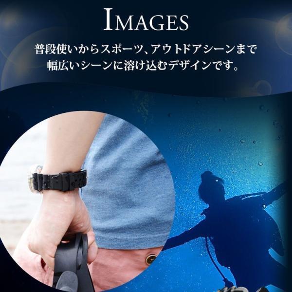 腕時計ベルト バンド 交換 ラバー メンズ 完全防水 20mm CASSIS TYPE DIVER 20 X0032L46|mano-a-mano|08