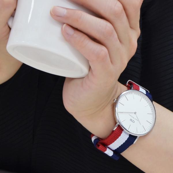時計 ベルト 腕時計ベルト バンド  ダニエルウェリントン用ベルト 時計バンド ナイロン TYPE NATO LOOP タイプナトーループ X0037A74 18mm 20mm|mano-a-mano|09