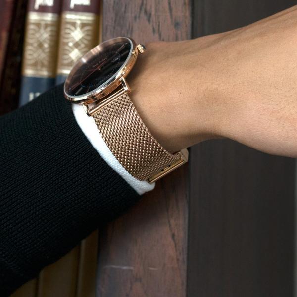 時計 ベルト 腕時計ベルト バンド  ステンレススチール MORELLATO モレラート GEA LUCIDO ROSE GOLDジェアー ルシード ローズゴールド X0545014 18mm 20mm|mano-a-mano|08