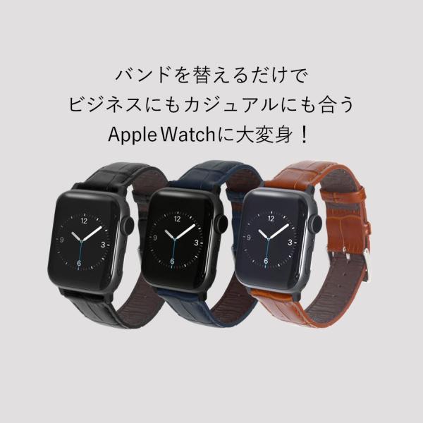 アップルウォッチ バンド apple watch ベルト 牛革 38mm 40mm 42mm 44mm CASSIS AVALLON サードパーティ 保護ケースつき|mano-a-mano|04