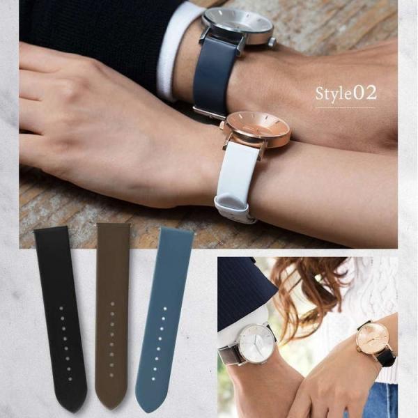 腕時計ベルト バンド 交換 牛革 クラス14 KLASSE14 36mm 40mm用 CASSIS LOIRE X1026H19C|mano-a-mano|08