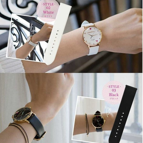 腕時計ベルト バンド 交換 牛革 Kate Spade ケイトスペード用 CASSIS LOIRE X1026H19K|mano-a-mano|07