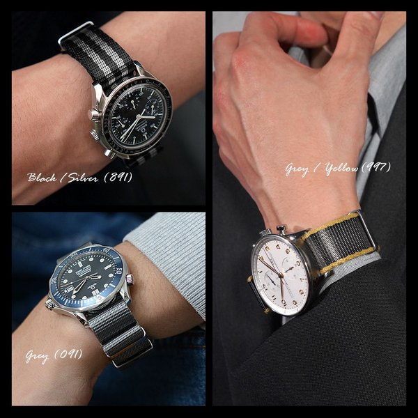 時計 ベルト 腕時計ベルト ナイロン CASSIS カシス TYPE NATO LX(LUXURY) タイプナトーエルエックス(ラグジュアリー) 替えバンド 交換 X1126CS1 20mm 22mm|mano-a-mano|07